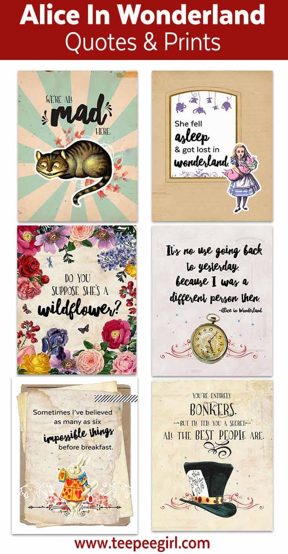 Alice In Wonderland Printables - Ministering Printables