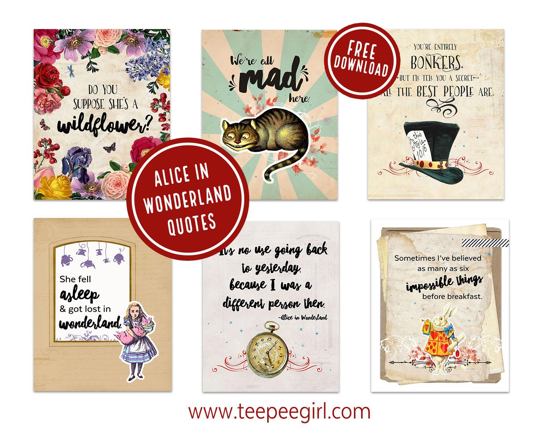 Alice In Wonderland Printables Ministering Printables