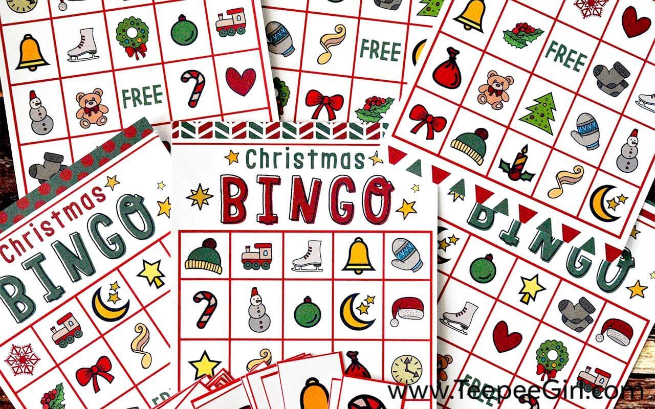 This is an image of Free Printable Christmas Bingo Cards for Large Groups inside calendar bingo