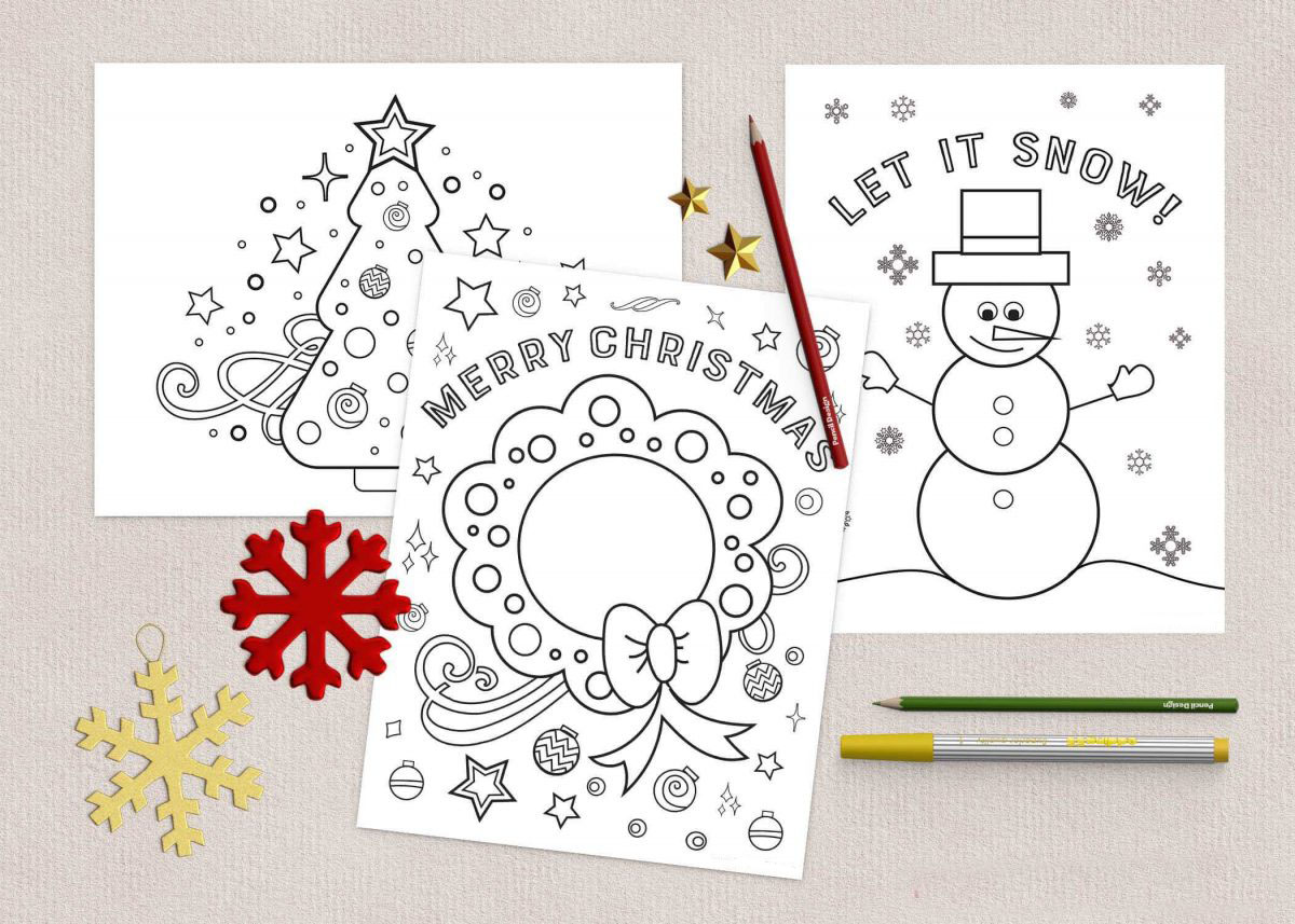 - Free Christmas Coloring Pages Www.TeepeeGirl.com