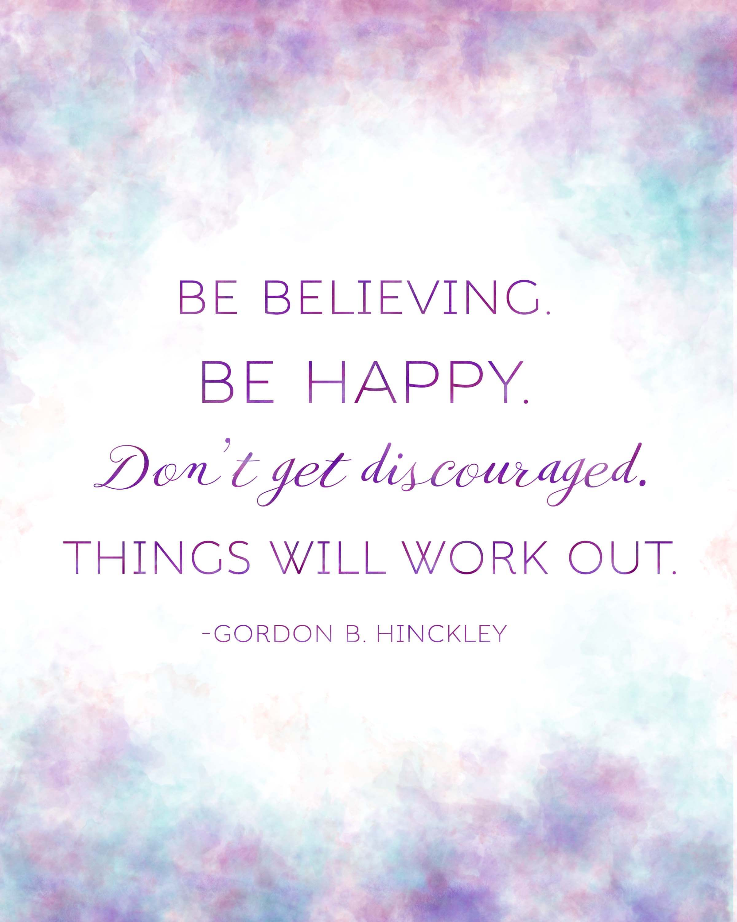 President Gordon B Hinckley Quote Printables For Relief Society