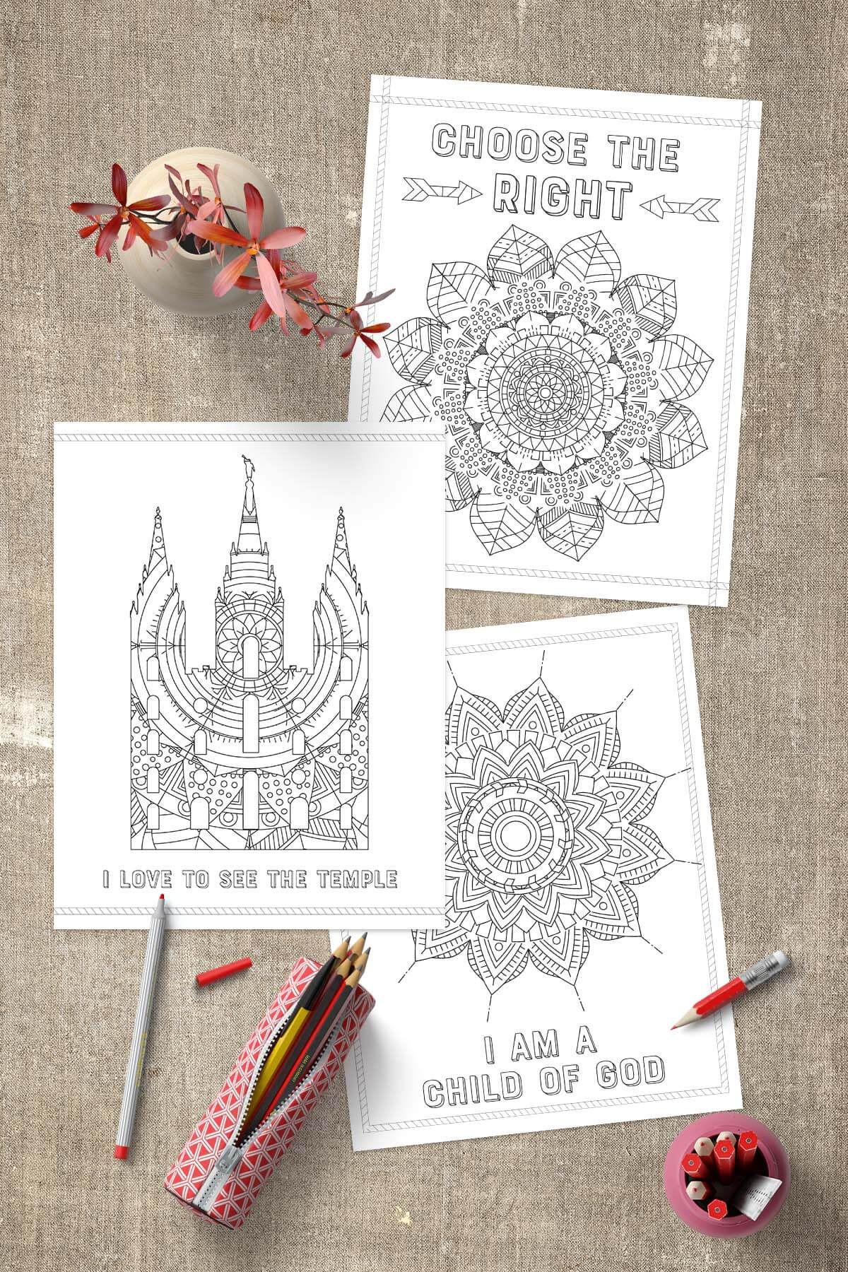 Free Lds Coloring Pages Www Teepeegirl Com