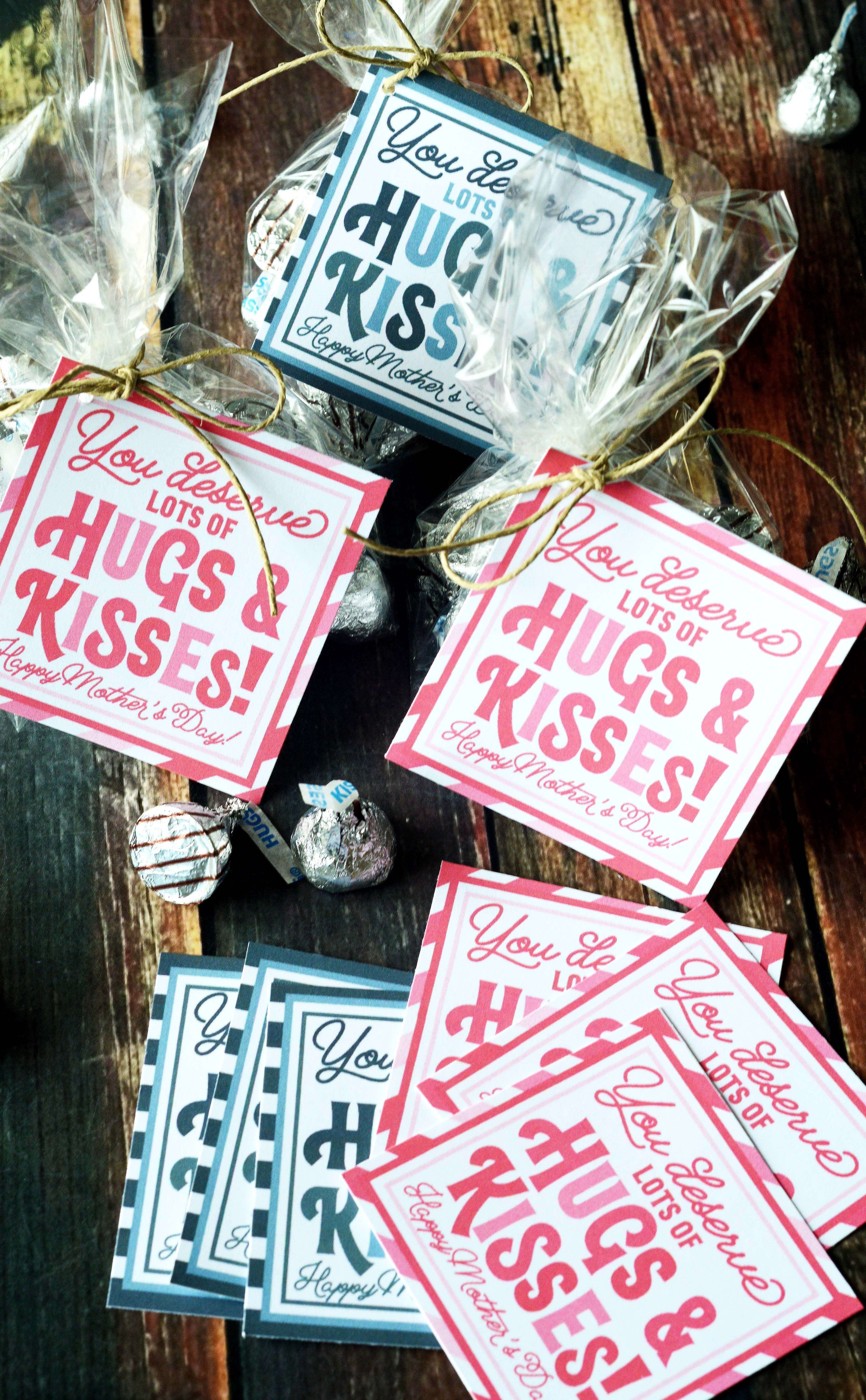 Easy Mother S Day Gift Idea For Lds Primary Hugs Kisses Gift Tag