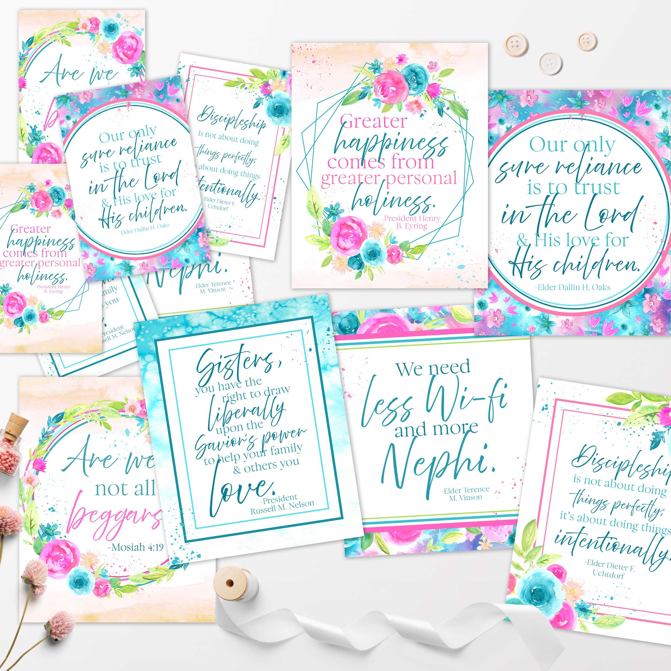 October 2019 General Conference Free Quote Printables Ministering Printables