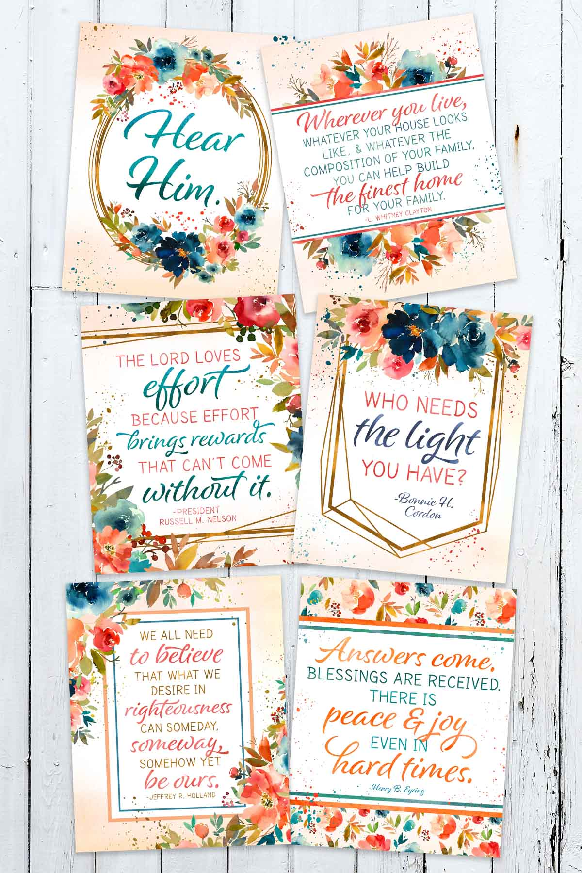 6 Free April 2020 General Conference Printables Ministering Printables